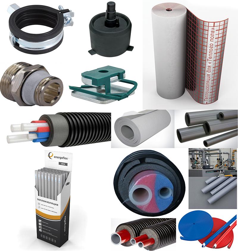 Трубы для теплотрассы и изоляция для теплотрассы в магазине СКО